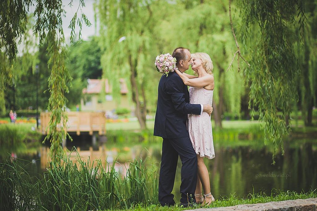 sesja ślubna park oruński